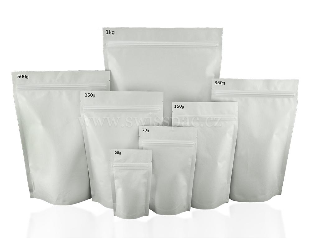 Bílé papírové tašky