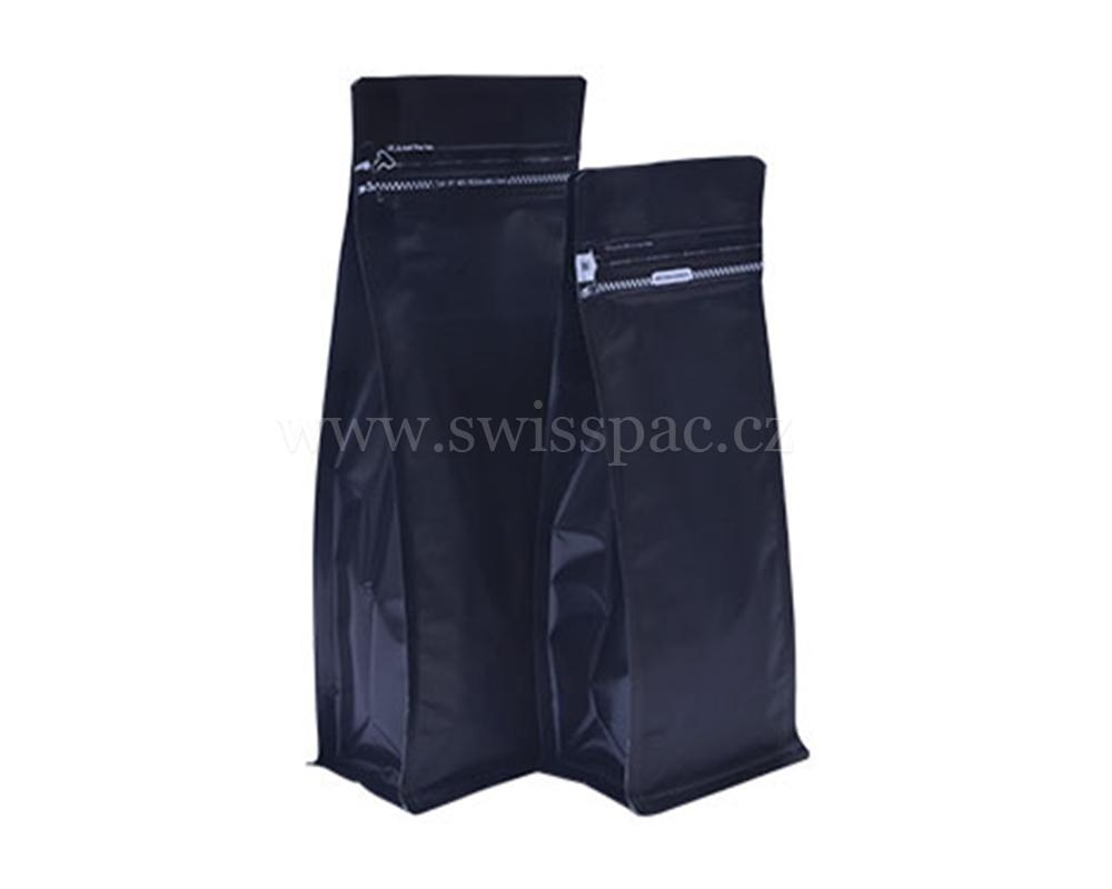 Matné černé tašky s odtrhávacím zipem